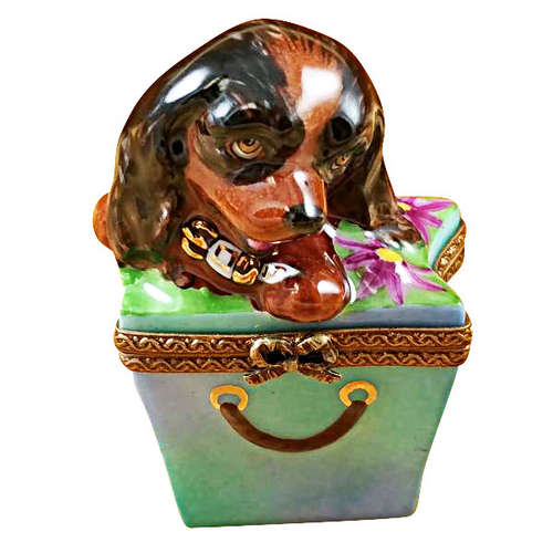 Magnifique Brown Spaniel in Package Limoges Box