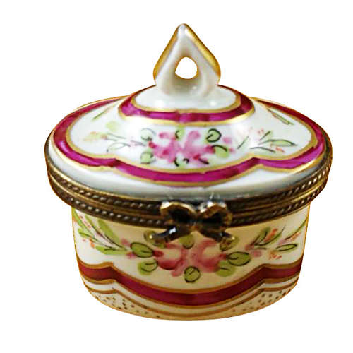 Magnifique Red Crown Top Limoges Box