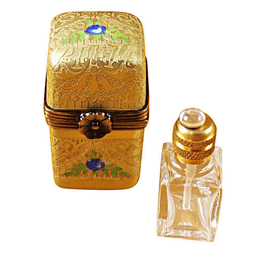 Magnifique Gold Tall Case with Bottle Limoges Box