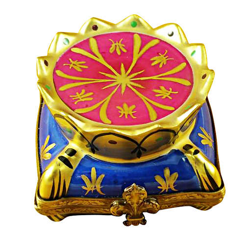 Magnifique Crown on Pillow Limoges Box