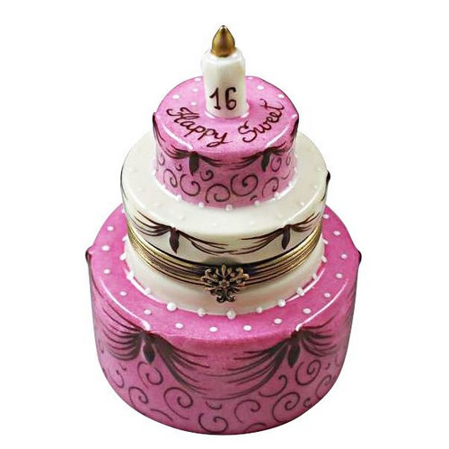 Magnifique Sweet Sixteen Birthday Cake Limoges Box