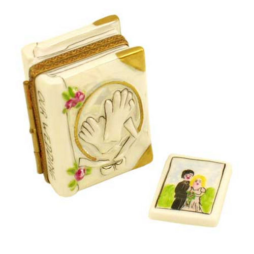 Magnifique Wedding Book with Photo Limoges Box