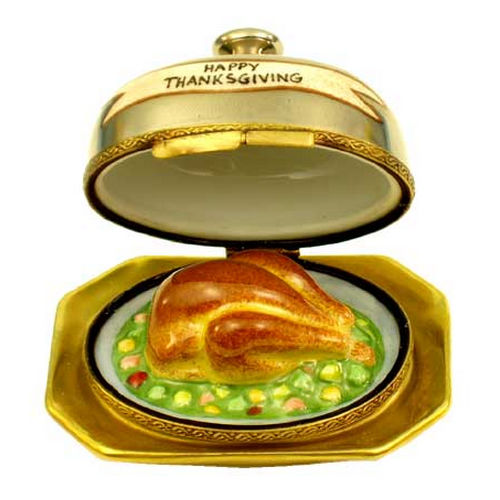Magnifique Thanksgiving Turkey Dinner in Silver Service Limoges Box