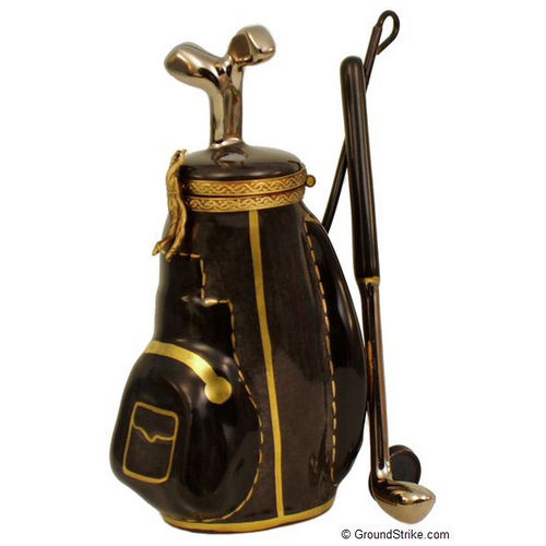 Magnifique Golf Clubs in Wheeled Bag Limoges Box