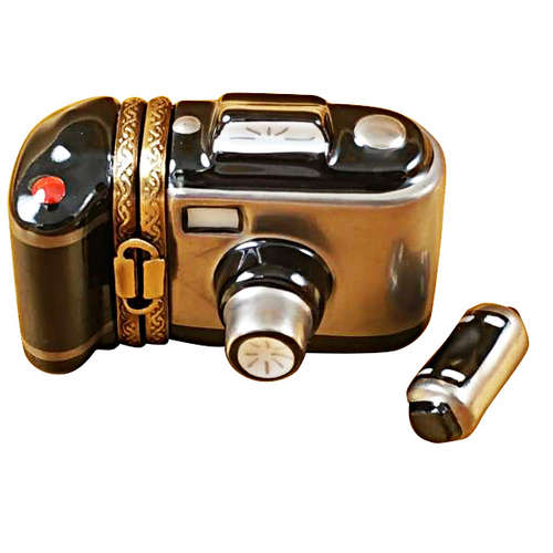 Magnifique Camera with Film Limoges Box