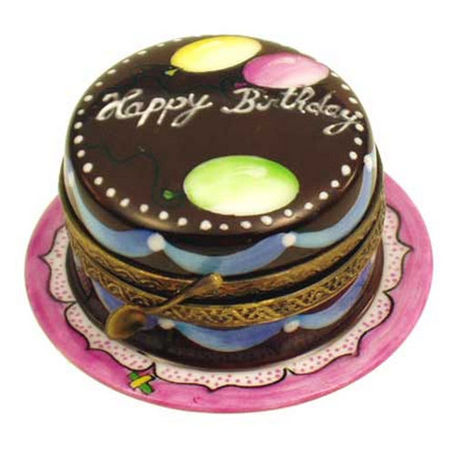 Magnifique Chocolate Birthday Cake Limoges Box