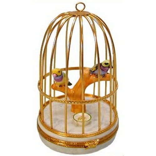 Artoria Tanagers in Cage Limoges Box