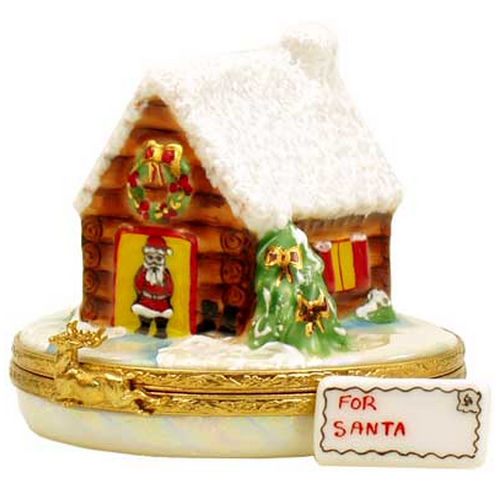 Artoria Santa's House Limoges Box