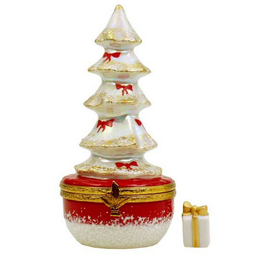 Artoria White Christmas Tree Limoges Box