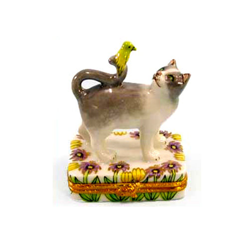Artoria Cat and Canary Limoges Box