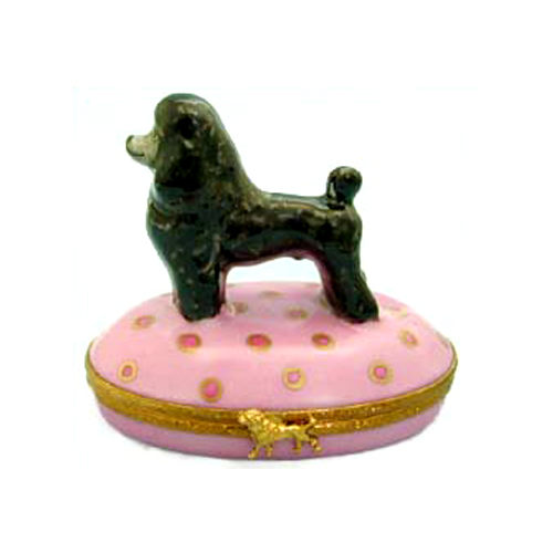Artoria Black Poodle Limoges Box