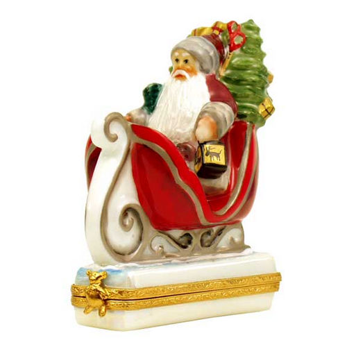 Artoria Oak Forest Express Santa by Lynn Haney Limoges Box
