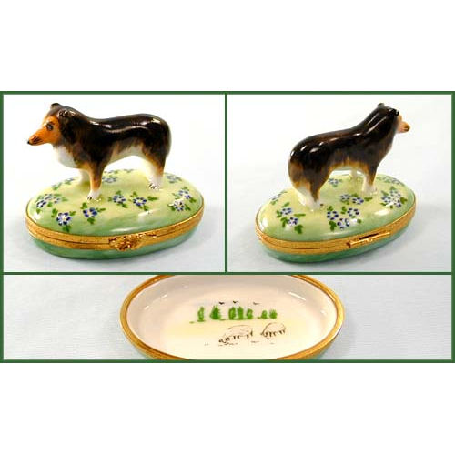 Artoria Shetland Sheepdog Limoges Box