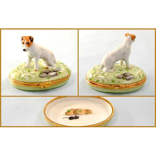 Artoria Jack Russell Dog Limoges Box
