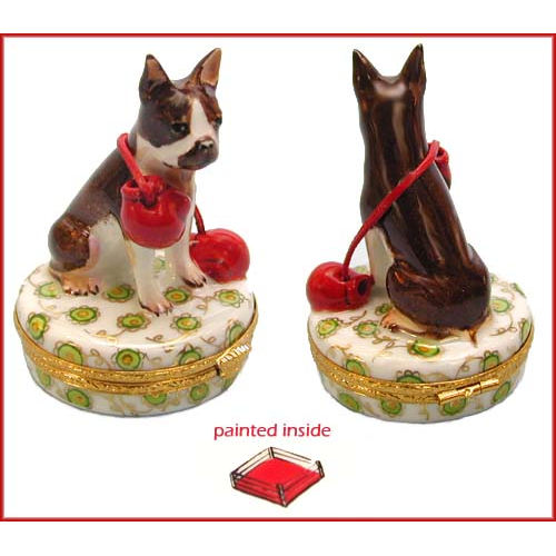 Artoria Boston Terrier Limoges Box