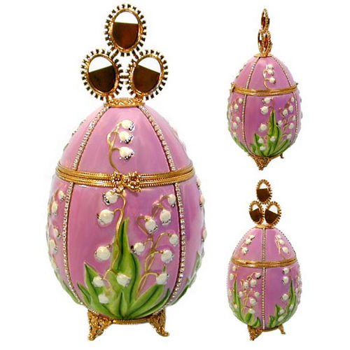 Artoria Faberge Lilies of the Valley Egg Limoges Box