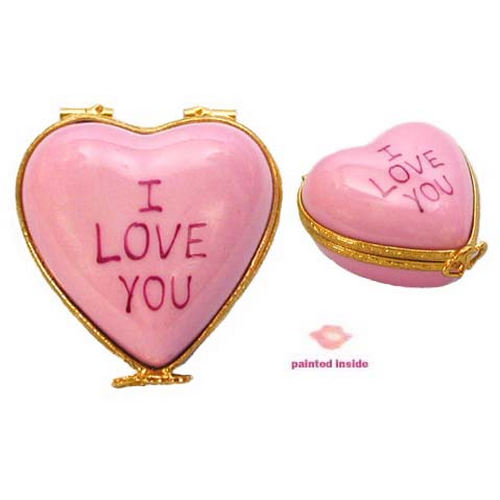 Artoria Candy Heart - I Love You Limoges Box