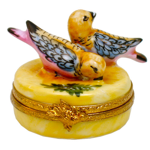 Artoria 12 Days of Xmas - turtle doves Limoges Box
