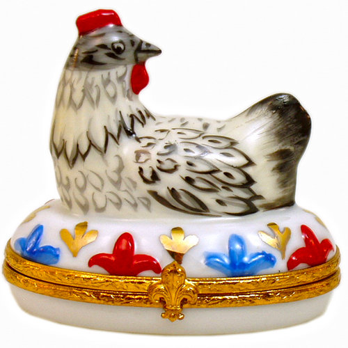 Artoria 12 Days of Xmas - French hens Limoges Box