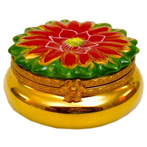 Artoria 12 Days of Xmas - golden rings Limoges Box