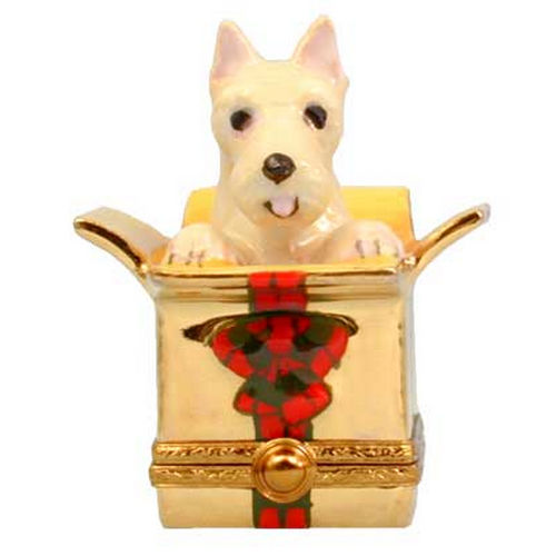 Artoria Westie in Present Box Limoges Box