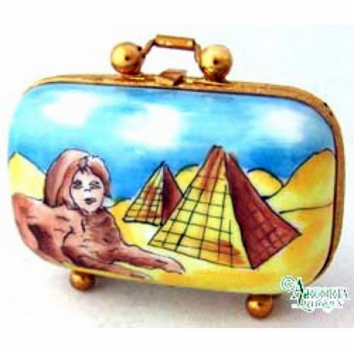 Artoria Egypt Travel Suitcase Limoges Box