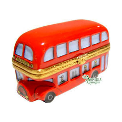 Artoria London Double Decker Bus Limoges Box