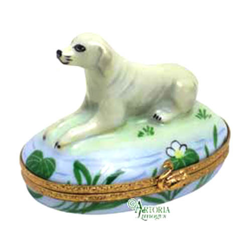 Artoria Labrador Retriever: Yellow Limoges Box