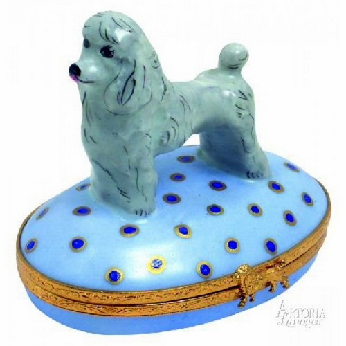 Artoria Poodle: Gray Limoges Box