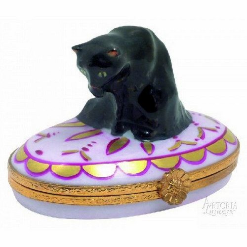 Artoria Black Angora Limoges Box