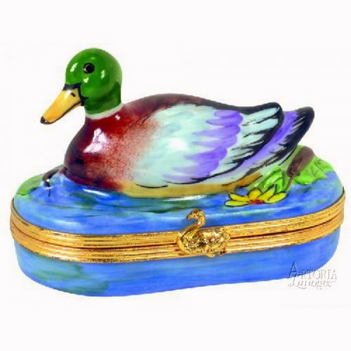 Artoria Mallard Duck Limoges Box