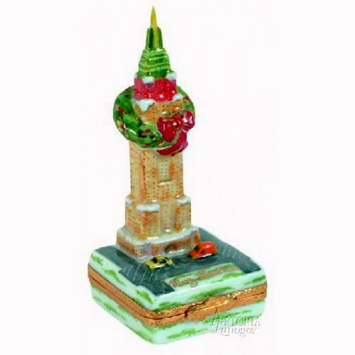 Artoria Empire State Building Xmas Limoges Box
