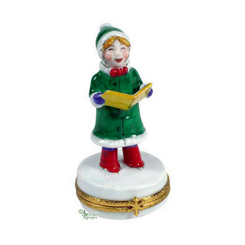 Artoria Christmas Caroler Limoges Box