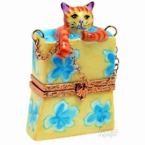 Artoria Kitty in Shopping Bag Limoges Box