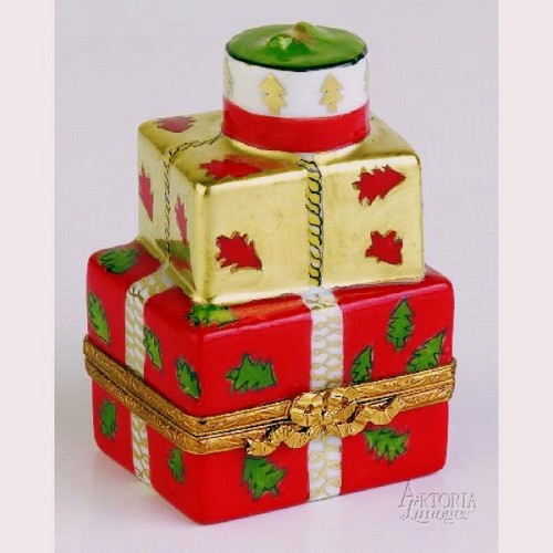 Artoria Xmas Present: Red and Gold Limoges Box