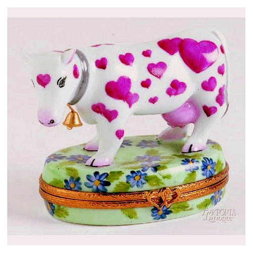 Artoria Heart Cow Limoges Box