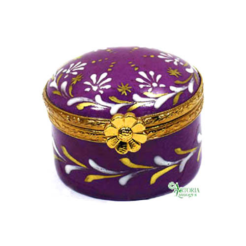Artoria Small Round Limoges Box