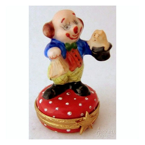 Artoria Clown with Hat Limoges Box