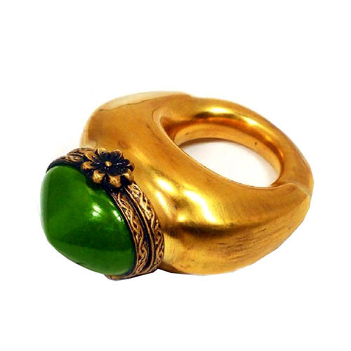 Artoria Ring: Green/Gold Limoges Box