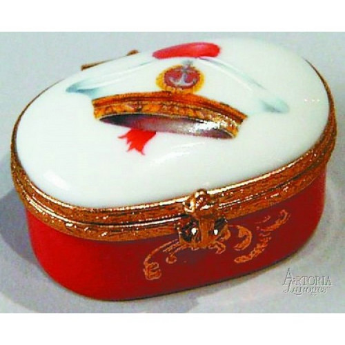 Artoria Oval with Red Sailor Cap  Limoges Box
