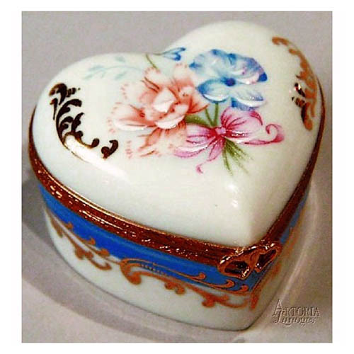Artoria Medium Heart: Flowers  Limoges Box