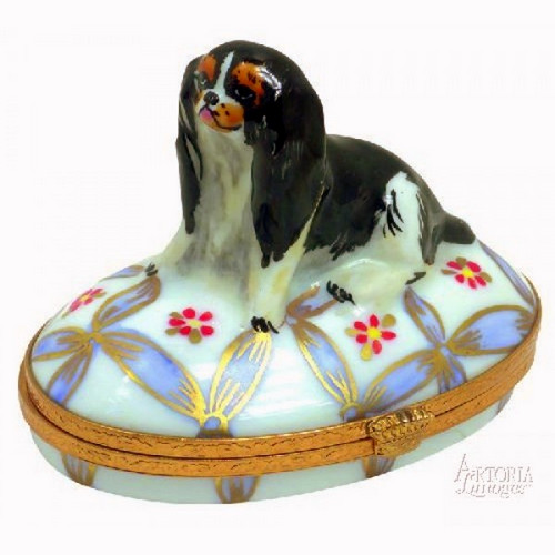 Artoria English Toy Spaniel Limoges Box