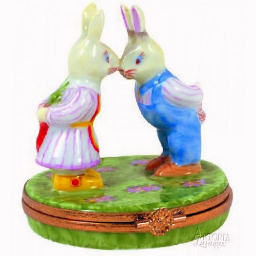 Artoria Mr. and Mrs. Rabbit Limoges Box