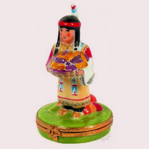 Artoria Native American Woman Limoges Box