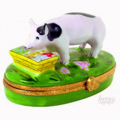 Artoria Spotted Pig Limoges Box