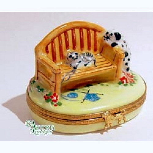 Artoria Garden Bench Limoges Box