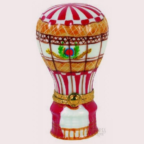 Artoria Hot Air Balloon: Red and White Limoges Box