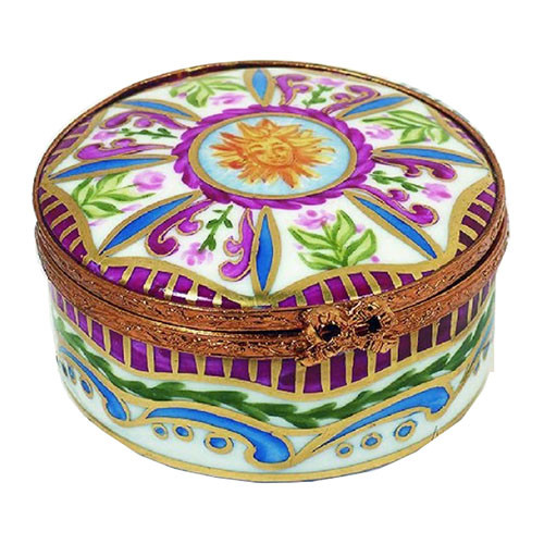 Artoria Medium Round: Sun King Limoges Box