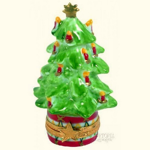 Artoria Christmas Tree with Candles Limoges Box
