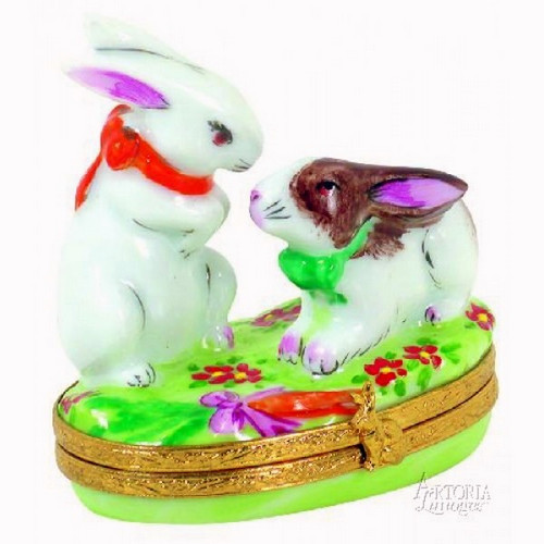 Artoria Two Love-Bunnies Limoges Box